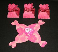 Cricut Petal Box Valentine Candy Holders