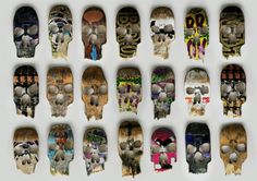 Designer Beto Janz reuses broken skateboard decks to promote Ultra Skate Store in Curitiba, Brasil. The decks are left near skateboard locations around the city. They look like skulls and display contact information for the store.