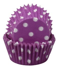 Take a look at this Purple Polka Dot Mini Cupcake Wrapper - Set of 60 by Regency Wraps on #zulily today!