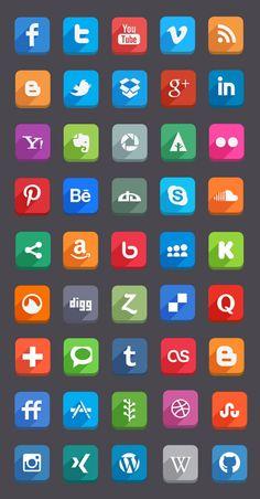 Flat Social Media Icons (Free Psd) by Hakan Ertan