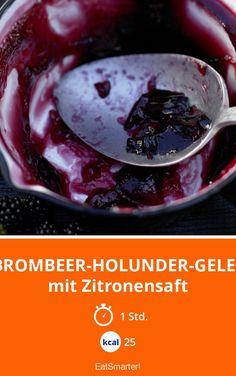 Brombeer-Holunder-Gelee - mit Zitronensaft - smarter - Kalorien: 25 Kcal - Zeit: 1 Std. | eatsmarter.de