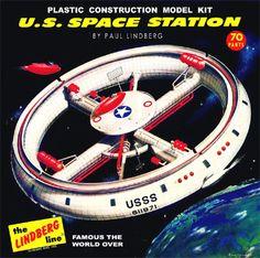 Lindberg US Space Station 1 Vintage Space, Vintage Toys, Plastic Model Kits, Plastic Models, Science Fiction, Monogram Models, New Aircraft, Sci Fi Models, Space Station
