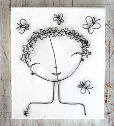 fil de fer sur carton entoilé ou chassis  wire flower girl by Alex Landa onlywire account creation service