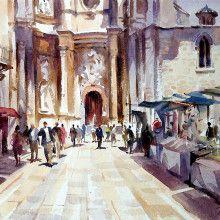 """""""Church Valencia""""  original art by Trevor Waugh © trevorwaugh.com"""