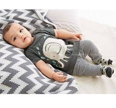 2015 summer style carters baby boy baby clothing : gray T-shirt striped trousers / from cotton / bebe clothing set