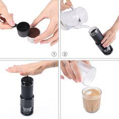 Amazon.de: [Reddot Award] STARESSO Manuelle Kaffeemaschine Hand Espressomaschine Outdoor Cappuccino Camping Wandern Reise Unterwegs Schwarz.