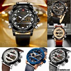 Sport Watches, Watches For Men, Military Fashion, Mens Fashion, Leather Watch Bands, Make A Gift, Omega Watch, Nba, Quartz