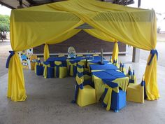 Minions themed party set-up