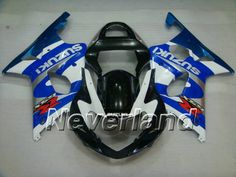 Red Silver Black Complete Painted injection ABS plastic body kit fairing suit for 2000-2002 Suzuki GSXR 1000 2001
