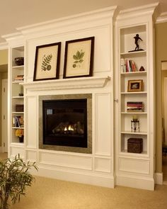 This would be nice to build & put the tv in place of the fire place