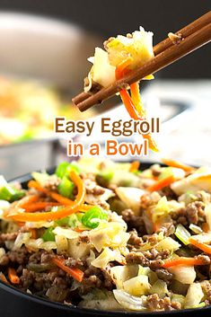 Easy Eggroll in a Bowl