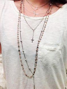 Chan Luu layering necklaces! #artoflayering Shop here http://www.chanluu.com/