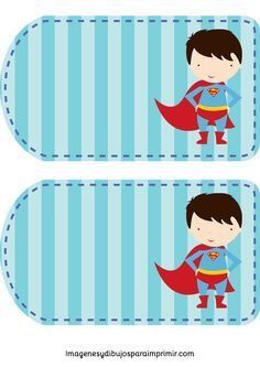 Superman Party, Superhero Party, School Name Labels, Super Hero Day, Diy And Crafts, Crafts For Kids, Book Labels, Stationary School, Circus Baby