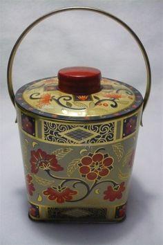 Vintage Floral Bucket Tin.