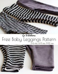 FREE Baby Go To Leggings Pattern - SEWTORIAL