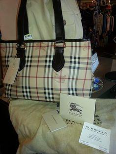 Authentic Burberry Nova Check Regent Tote Handbag NWT NEW Brown Purse Auction! $400