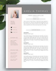 Resume Template 3 page / CV Template Cover от FortunelleResumes Free Cv Template Word, Cv Design Template, Modern Resume Template, Cover Letter Template, Resume Templates, Resume Cv, Resume Design, Cv Original, Cv Inspiration