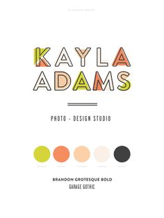 Kayla Adams Branding by Eva Black Design Self Branding, Business Branding, Logo Branding, Corporate Branding, Design Web, Design Blog, David Carson Design, Corporate Design, Brand Identity Design