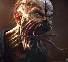10 Modern Horror Gems You Can Stream Right Now — Strange Harbors Fantasy Monster, Monster Art, Arte Horror, Horror Art, Creature Feature, Creature Design, Zombies, Dark Fantasy, Fantasy Art