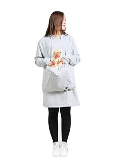 Looking for SAIANKE Womens Hoodies Pet Holder Cat Dog Kangaroo Pouch Carriers Pullover ? Check out our picks for the SAIANKE Womens Hoodies Pet Holder Cat Dog Kangaroo Pouch Carriers Pullover from the popular stores - all in one. Long Hoodie, Grey Hoodie, Cat Dog, Kangaroo Pouch, Cool Halloween Costumes, Ladies Dress Design, Pullover, Sweatshirts, Cuddle Cat