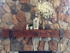 We can add metal straps to nearly all of our fireplace mantels. If you don't see a mantel that you like in this collection, we probably have another o… Rustic Fireplace Mantle, Reclaimed Wood Mantel, Brick Fireplace Makeover, Rustic Fireplaces, Fireplace Ideas, Stone Fireplaces, Fireplace Surrounds, Country Interior Design, Wood Beams