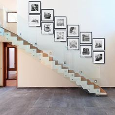 Gallery Perfect Gallery Wall Kit Square Photos with Hanging Template Picture Frame Set, x x Inches, Black, 12 Piece Staircase Wall Decor, Stairway Decorating, Hallway Wall Decor, Family Wall Decor, Picture Wall Staircase, Staircase Frames, Stairway Gallery Wall, Gallery Wall Layout, Gallery Wall Frames