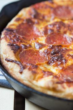 The BEST Cast Iron Pizza - You'll never want to order take out again!   sweetasacookie.com