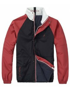 Nautica chaqueta reversible de hombre   Navy-red Motorcycle Jacket, Athletic, Zip, Jackets, Fashion, Presents, Men, Down Jackets, Moda