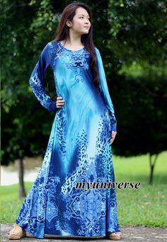 Long Sleeves Dress Blue Dress Maxi Dress Dress Party Coast Leopard Print Summer by myuniverse on Etsy https://www.etsy.com/listing/237260431/long-sleeves-dress-blue-dress-maxi-dress