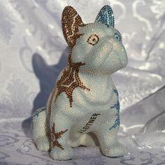 French Bruno by J. Dinosaur Stuffed Animal, French, Christmas Ornaments, Toys, Holiday Decor, Animals, Bulldog Breeds, Kunst, Activity Toys