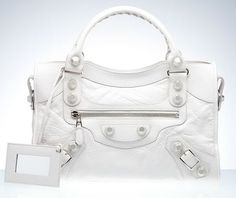 Would you buy a white Balenciaga bag?  I would.  Well, if I was extraordinarily rich.