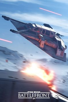 Snowspeeder in action in Star Wars Battlefront. #starwarsbattlefront #starwars