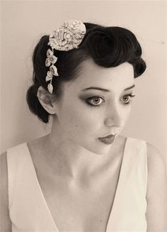 1950s Hairstyles on Jo Barnes Vintage  Cassie    1950s Hair Accessory     Fifties Wedding