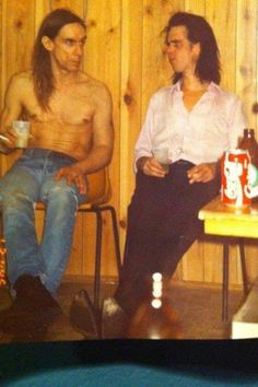 Iggy Pop and Nick Cave - another photo of I.P and N.C, but color photo