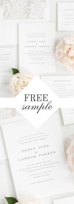 Brand your wedding from start to finish with our gorgeous Poppy suite. Request a free sample kit and experience our quality and luxurious paper options in person.