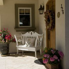 Traditional Entry Photos Small Front Porch +corner Design Ideas, Pictures, Remodel, and Décor..