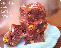 chocolate cake batter brownies.