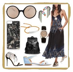 """""""Keeps you looking young"""" by denisee-denisee ❤ liked on Polyvore featuring Free People, March LA.B, Monica Vinader, Elizabeth Cole, Victoria Beckham, Boohoo, Zero Gravity, Giuseppe Zanotti, Sarah Chofakian and Amedeo"""