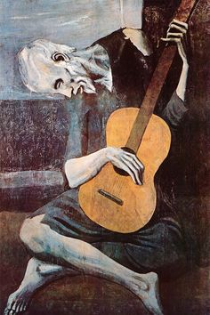 """""""The Old Guitarist"""" - canvas print by Pablo Picasso"""