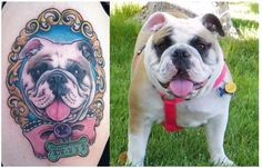 I got this awesome tattoo of my Bulldog, Betty, by Harmony Nixon...