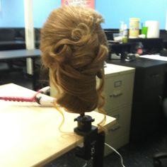 Wedding hair arrangement