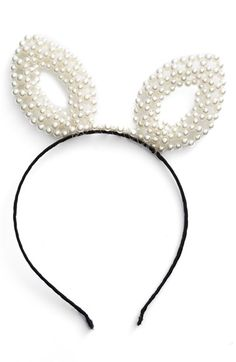 BP. Pearly Bunny Ear Headband available at #Nordstrom