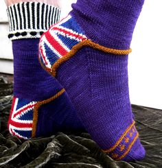 Ravelry: RiotousAssembly's Royal Jubiliee Socks: Ravellenic Games 2012