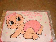 Crawling baby cake