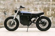Electric street tracker motorcycle by Shanghai Customs