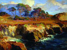Bischoff, Franz - Gold Rimmed Rocks and Sea