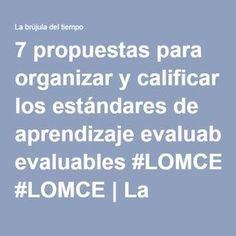 7 propuestas para organizar y calificar los estándares de aprendizaje evaluables #LOMCE | La brújula del tiempo Escape Room, Teaching English, Innovation, Teacher, School, Reading Assessment, Professor
