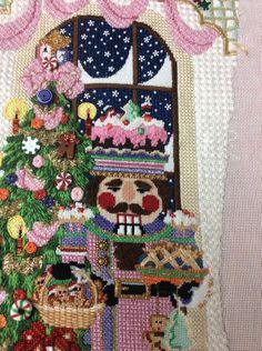 Needlepoint Stockings, Needlepoint Stitches, Needlepoint Canvases, Needlework, Nutcracker Christmas, Christmas Stockings, Christmas Decorations, Christmas Ornaments, Christmas Tree
