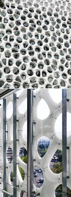 This sculptural facade also doubles as an air-cleaning cladding. The tiles are…
