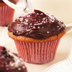 Find healthy, delicious cupcake recipes including chocolate and vanilla cupcakes, and cupcake frosting. Healthier recipes, from the food and nutrition experts at EatingWell. Healthy Cupcake Recipes, Heart Healthy Desserts, Healthy Cupcakes, Muffin Tin Recipes, Just Desserts, Dessert Recipes, Cupcake Flavors, Gourmet Cupcakes, Yummy Cupcakes